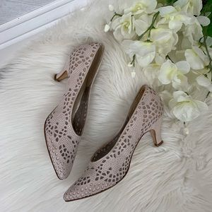 Via Spiga Blush Pink/Nude Kitten Heels 8 1/2